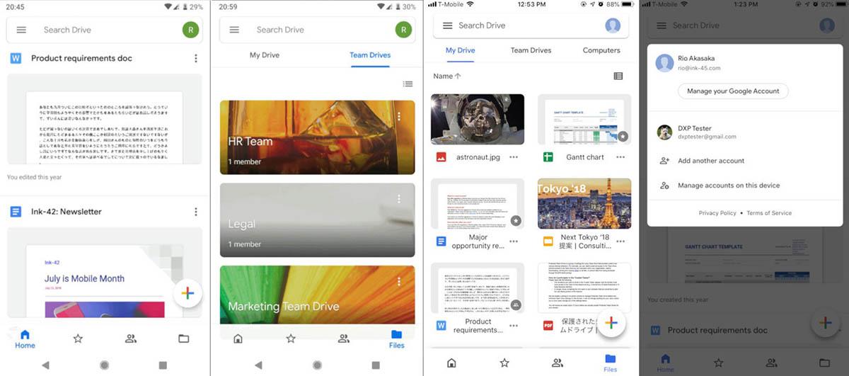 Nuevo diseño de Google Drive para Android e iOS