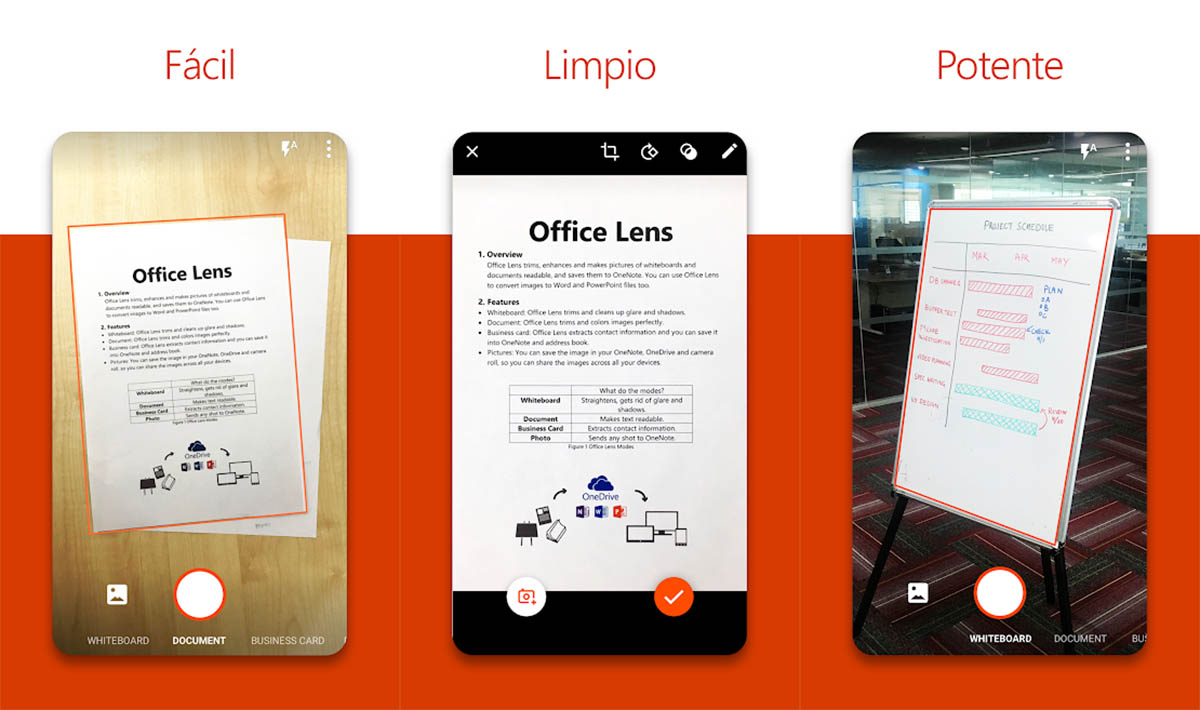 Office Lens para digitalizar documentos