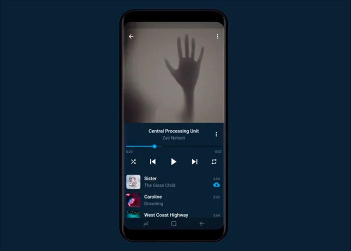 El nuevo reproductor de musica de Telegram X