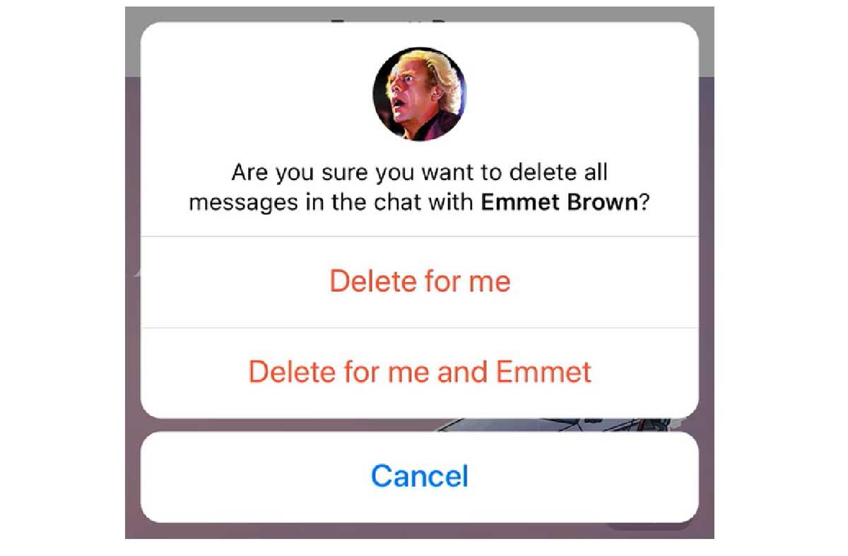 eliminar mensajes