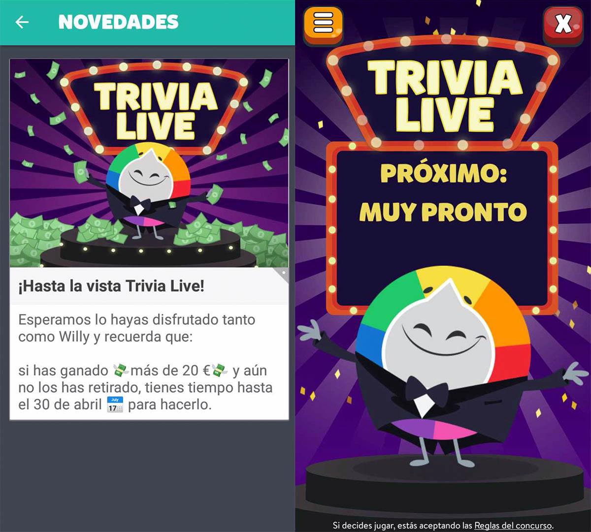 Volverá Trivia Live