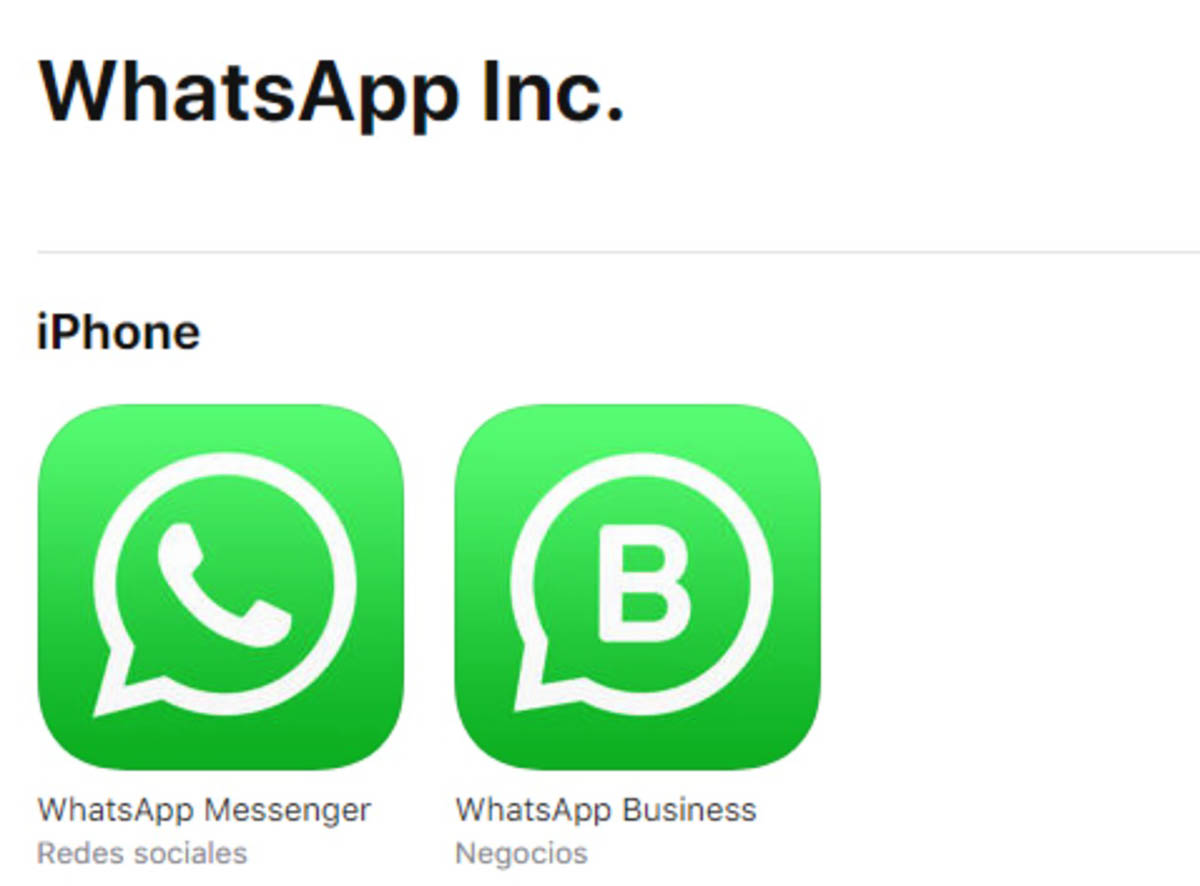 WhatsApp Business en App Store
