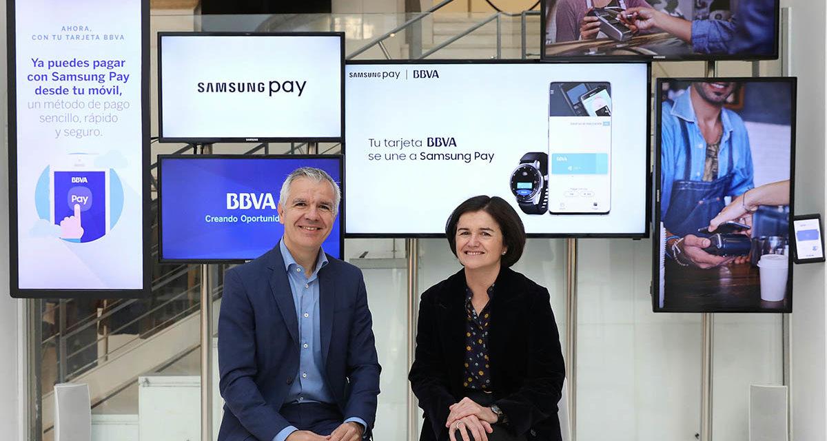 Los clientes de BBVA ya pueden pagar con Samsung Pay