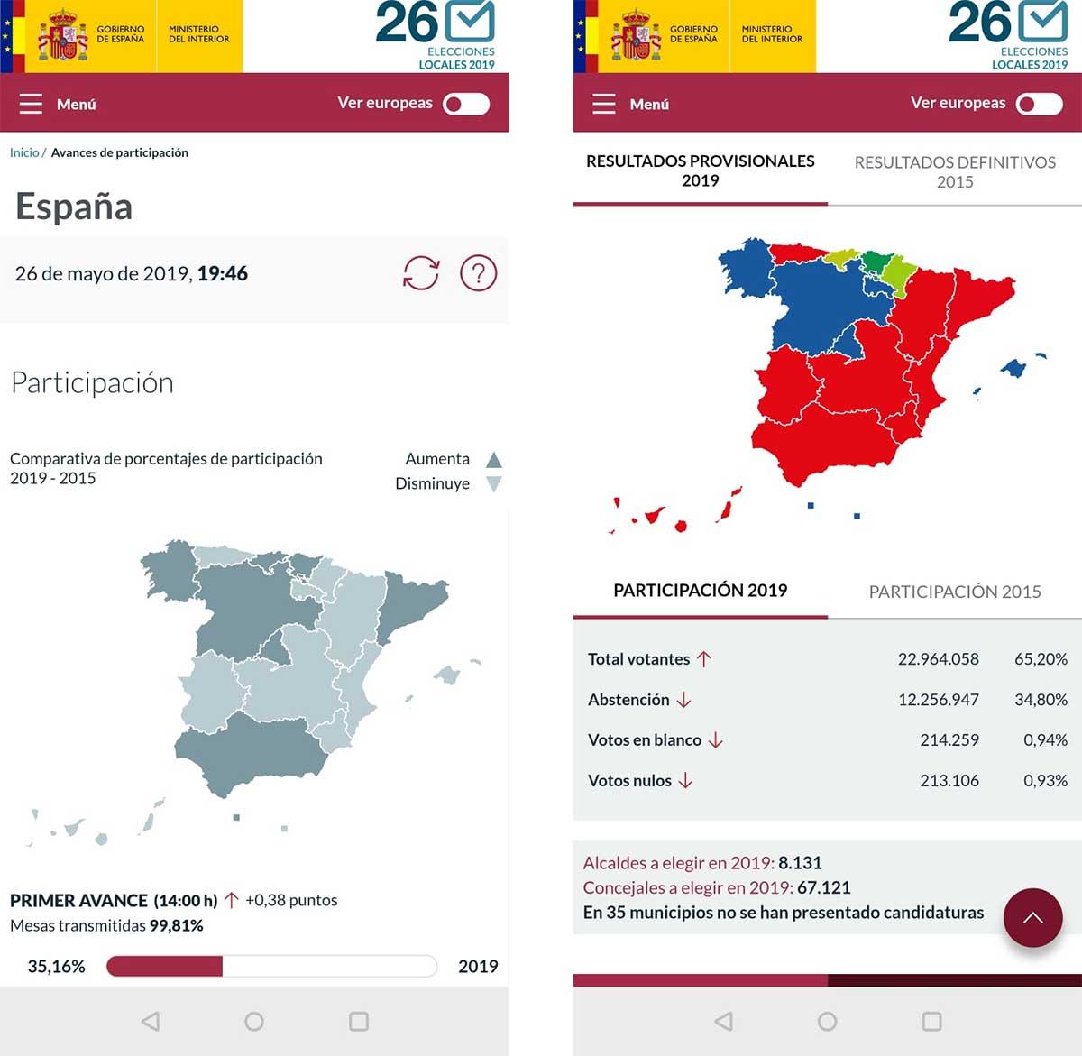 resultados locales 26M