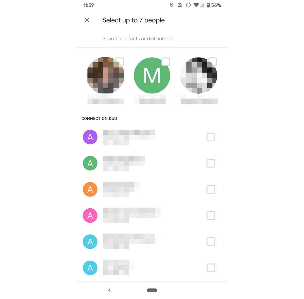 Google Duo 8 personas