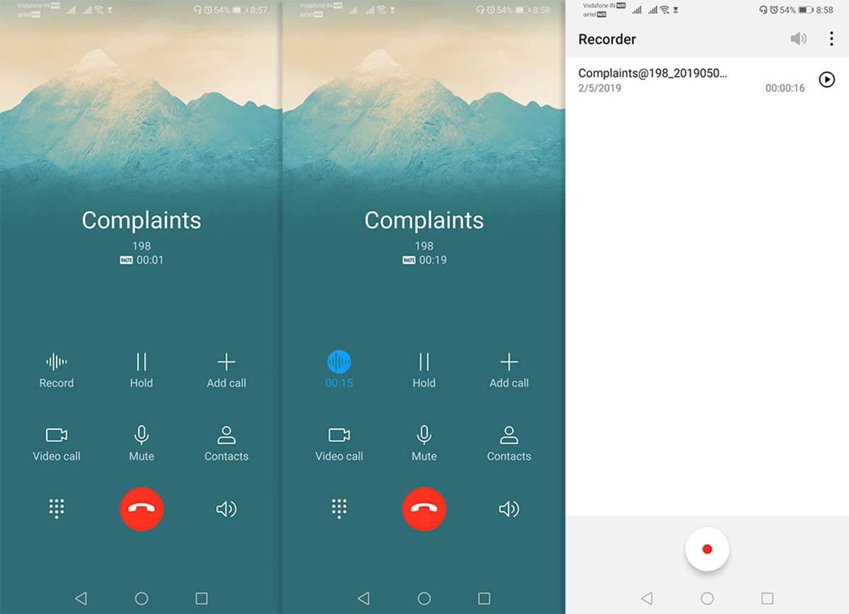 Activar grabacion de llamadas en EMUI