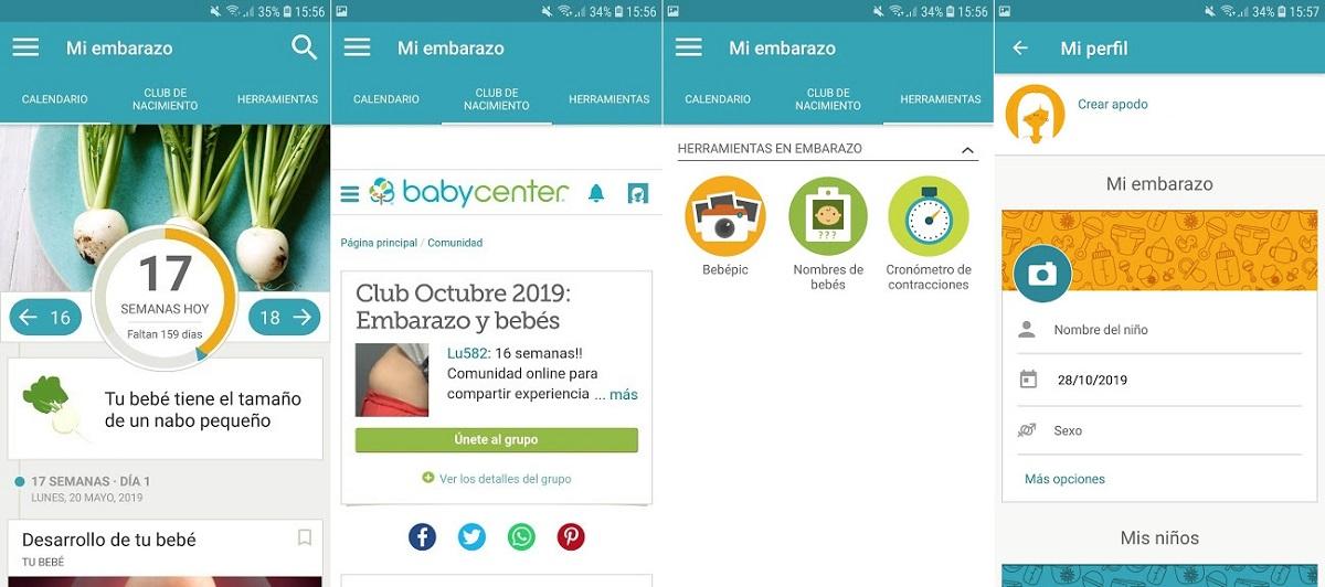 Mi embarazo y mi bebé día a día (BabyCenter)