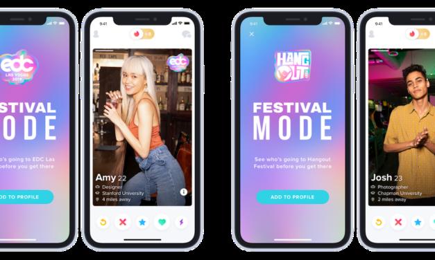 Tinder lanza un nuevo modo Festival para ligar en festivales