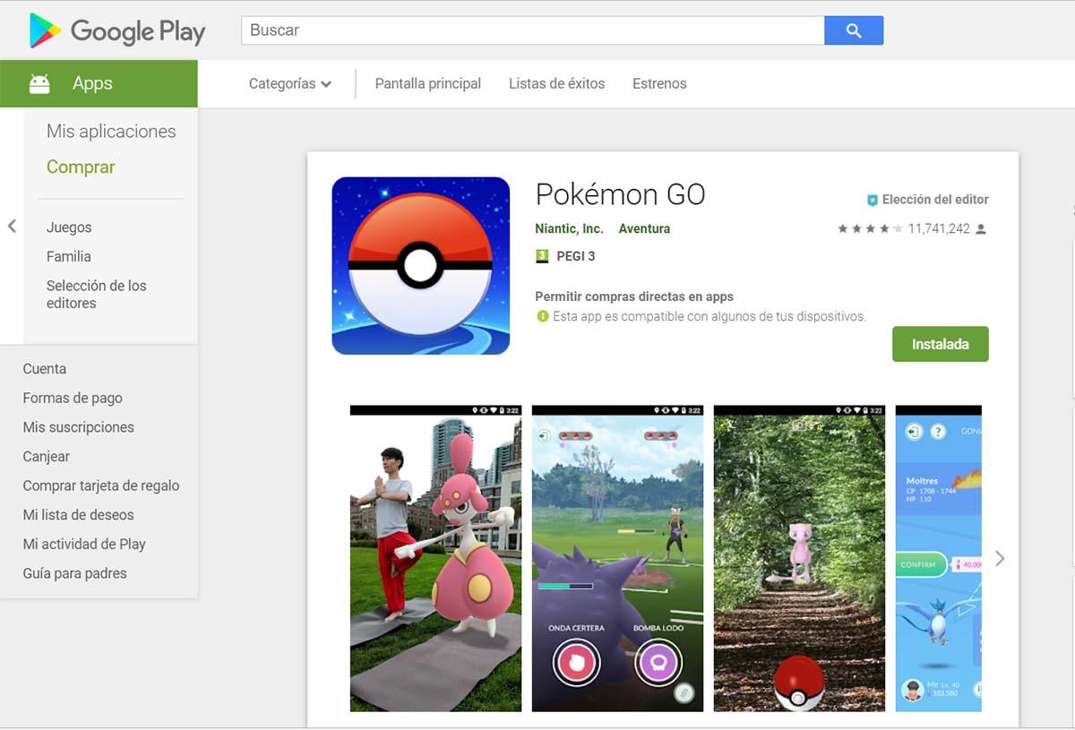 pokémon GO actualizar