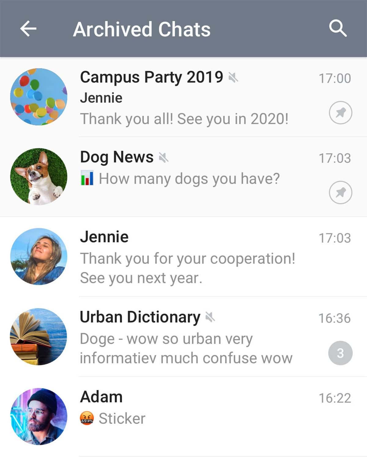 archivar chats