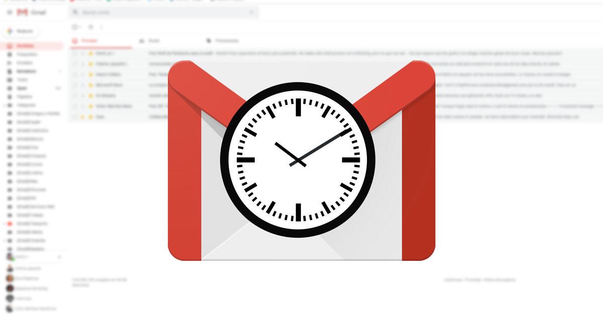 Cómo programar correos electrónicos en Gmail