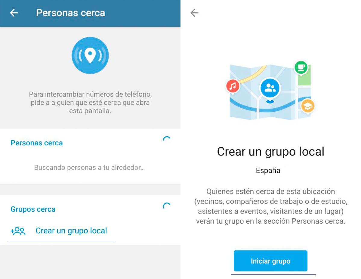 ¿Cómo son los nuevos grupos basados en ubicación?