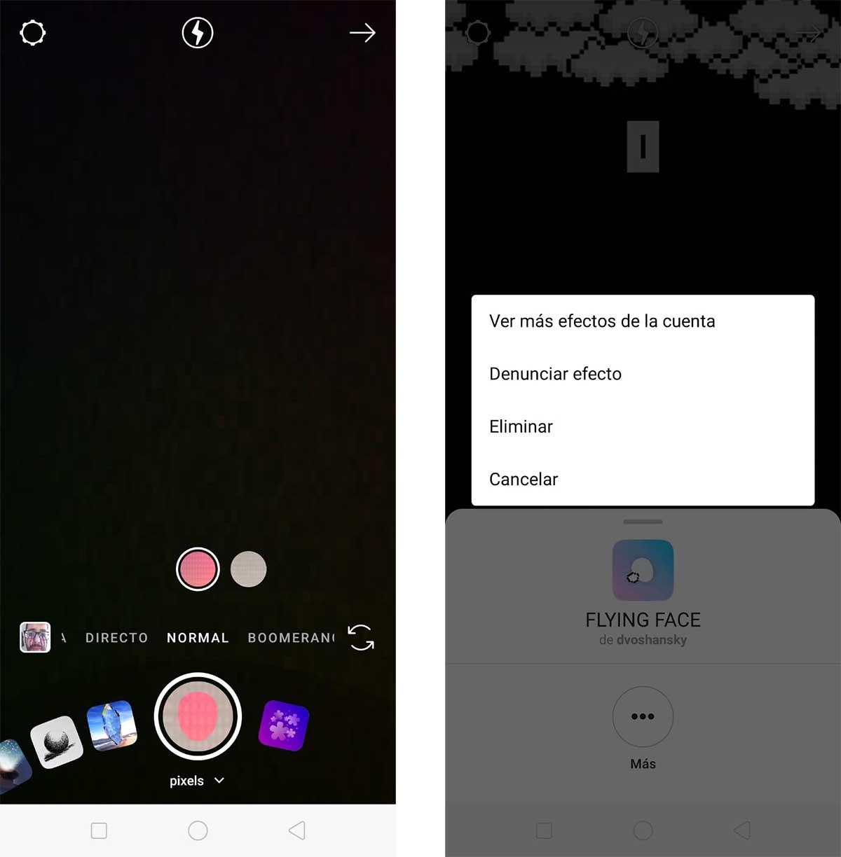 filtros desaparecidos en Instagram Stories