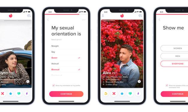 Tinder ya permite mostrar la orientación sexual en los perfiles