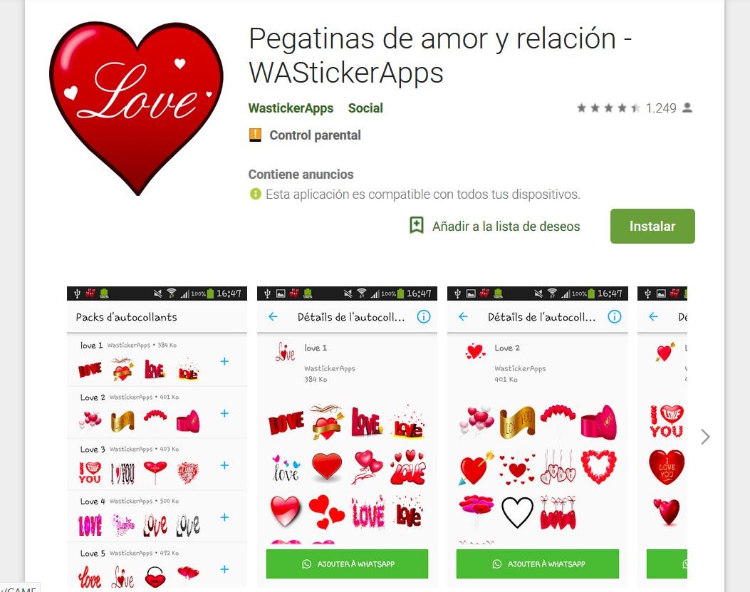 Stickers de amor y relación
