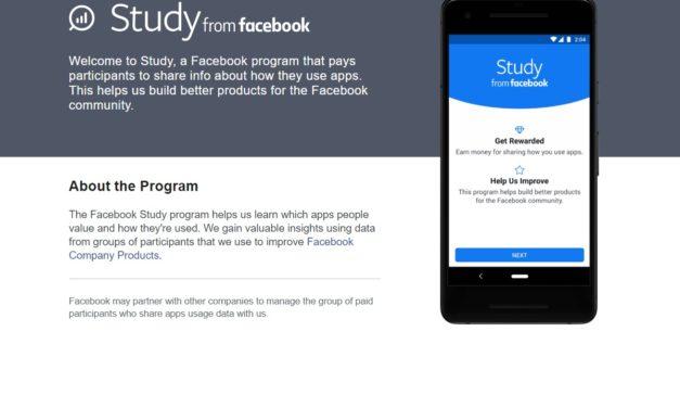 Study from Facebook te ofrece dinero por espiarte