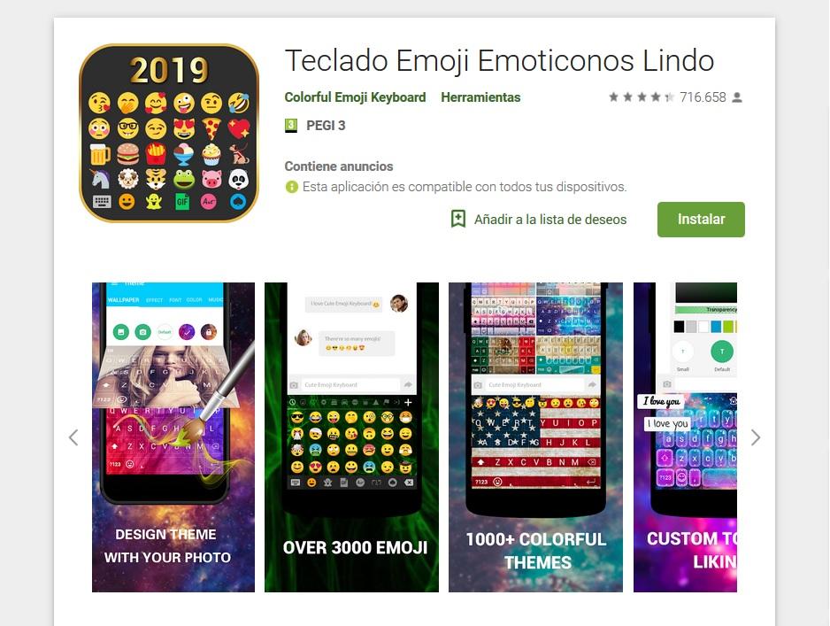 Teclado Emoji Emoticonos Lindo