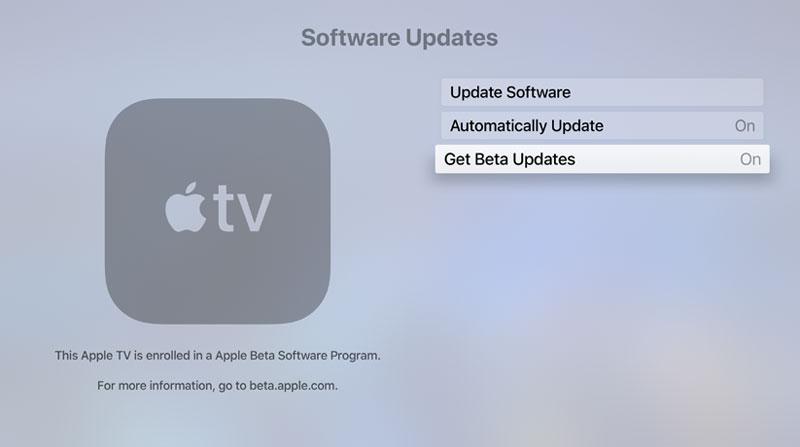 cómo instalar la beta pública de tvOS en el Apple TV