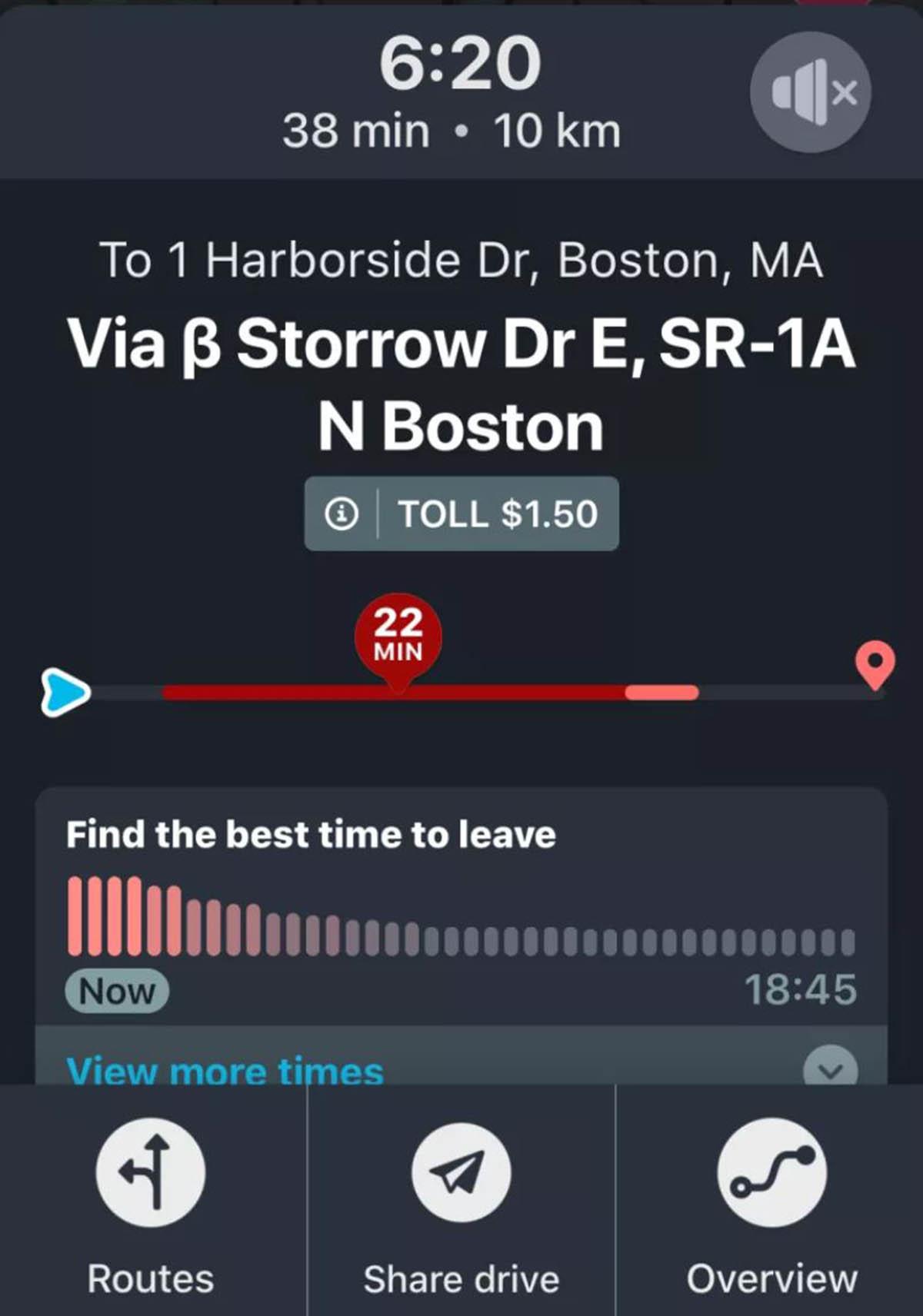 Así es como Waze muestra el precio de los peajes