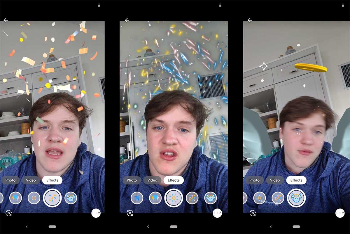 La aplicación Mensajes de Google prueba el uso de máscaras tipo Snapchat