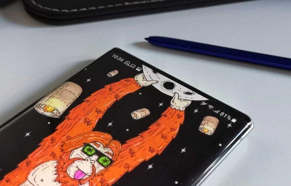 Dónde encontrar fondos de pantalla recortados para el Samsung Galaxy Note 10