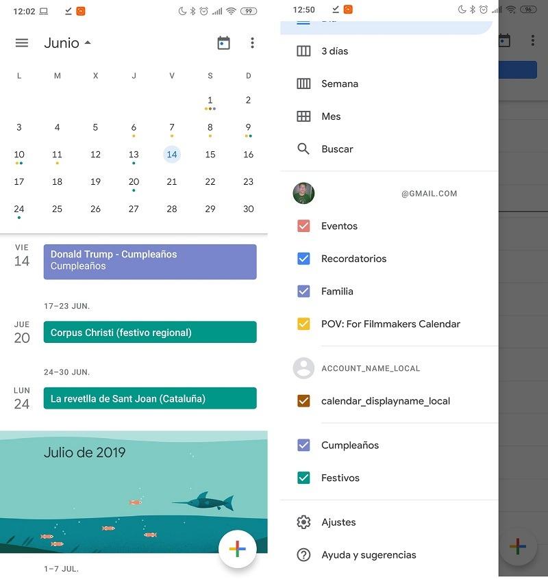 google calendar cumpleaños