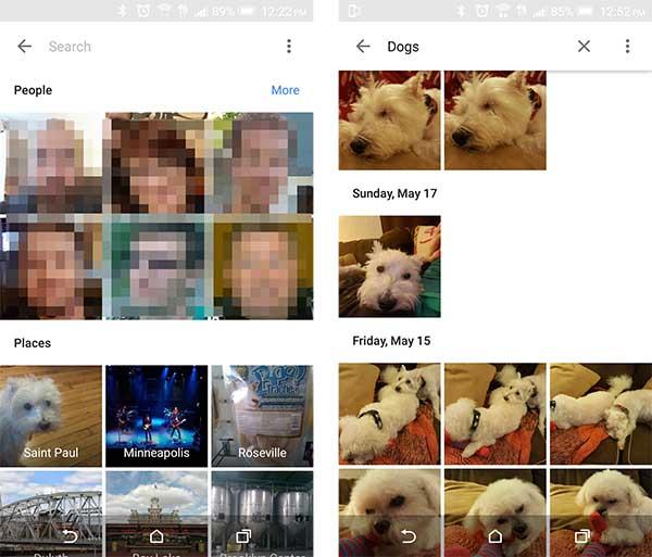 google fotos caras