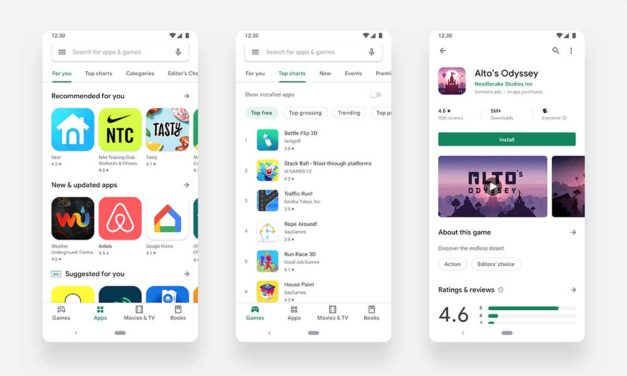 El nuevo diseño Material Design de Google Play Store llega al fin para todos