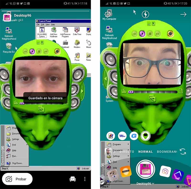 máscaras Instagram Stories