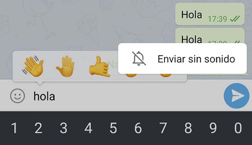 Cómo enviar mensajes sin sonido en Telegram