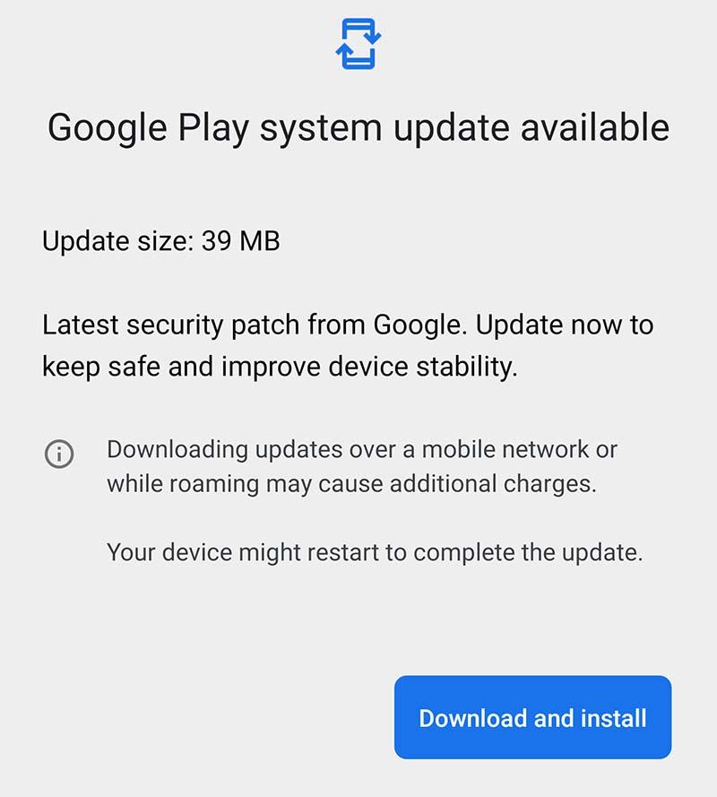 Cómo actualizar los parches de seguridad a través de Play Store