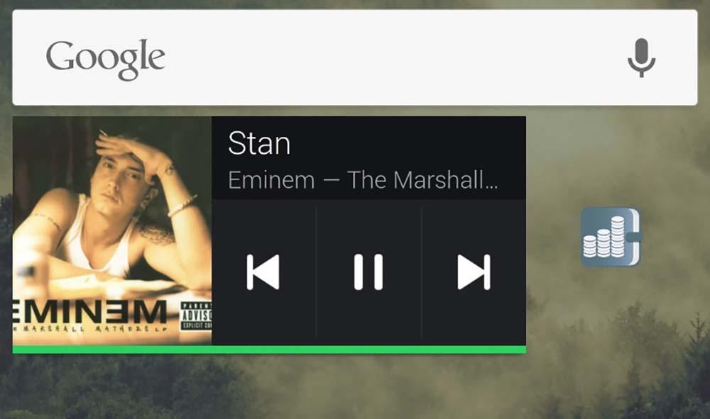Cómo recuperar el widget de música de Spotify en Android