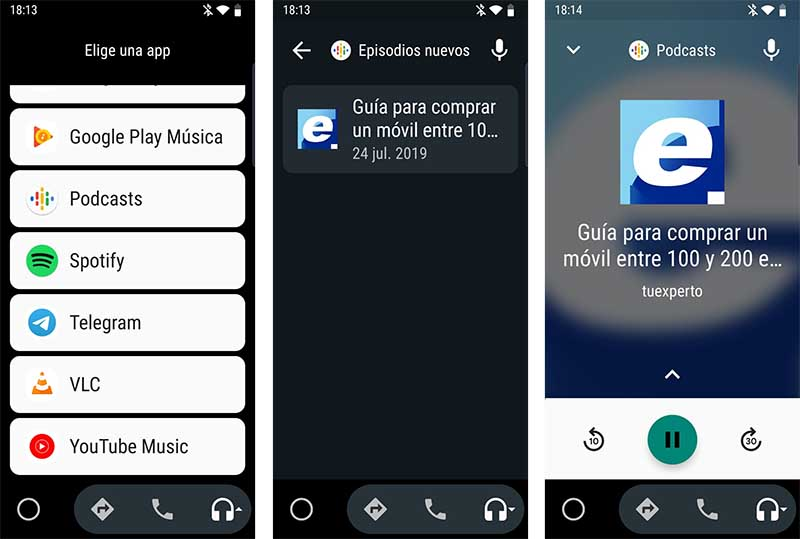 podcasts en Android Auto