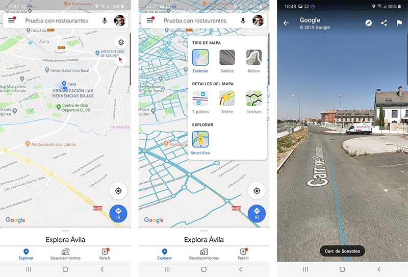 Cómo ver Street View en Google Maps