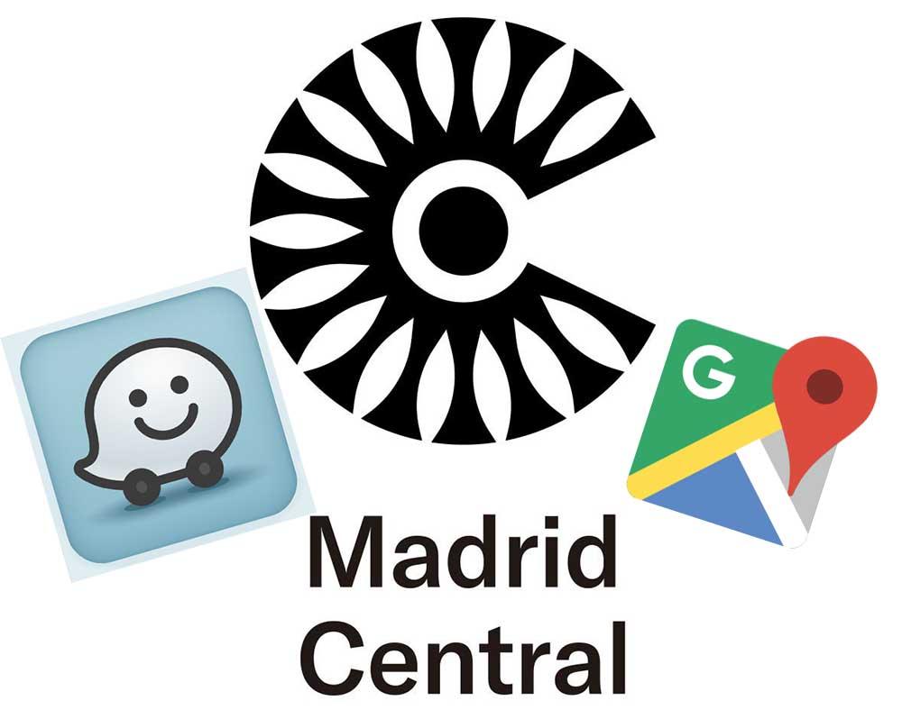 ¿Te avisan Google Maps y Waze cuando te acercas a Madrid Central?