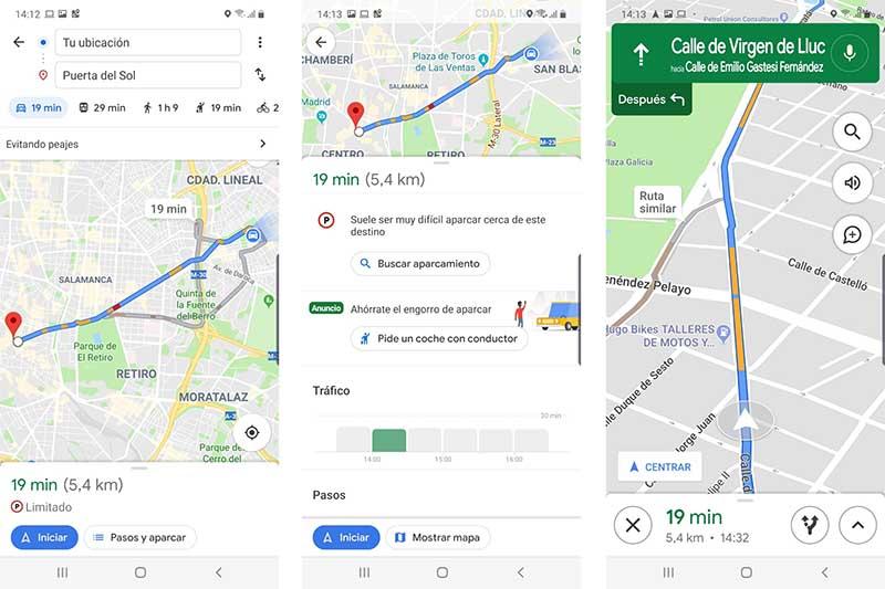 Google Maps y Madrid Central