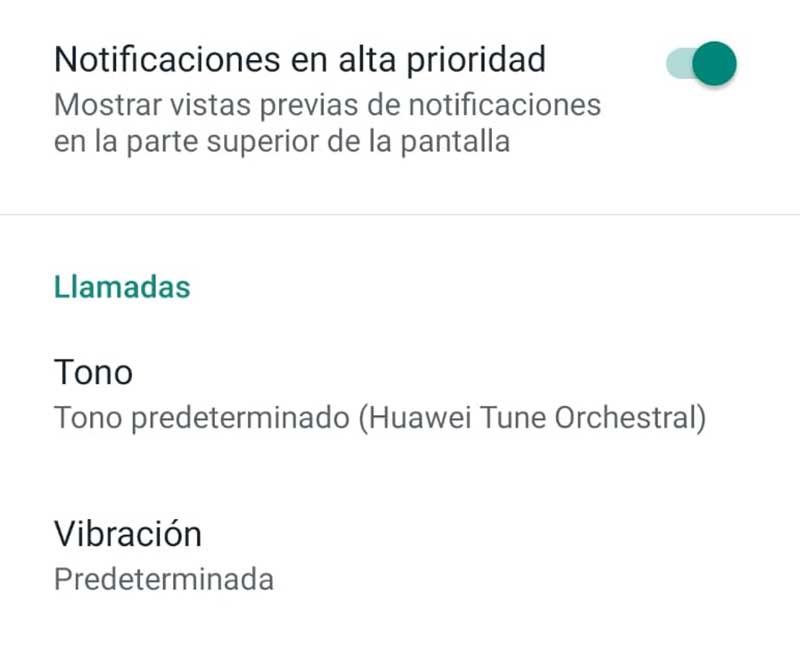 Desactivar notificaciones de llamadas de WhatsApp