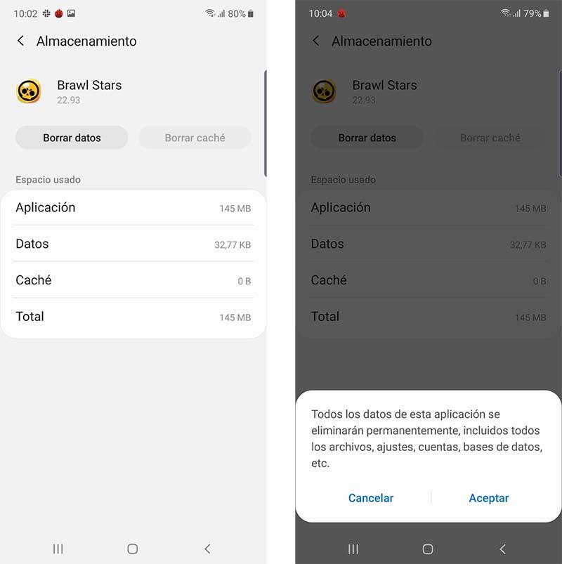 borrar datos de juegos en Android
