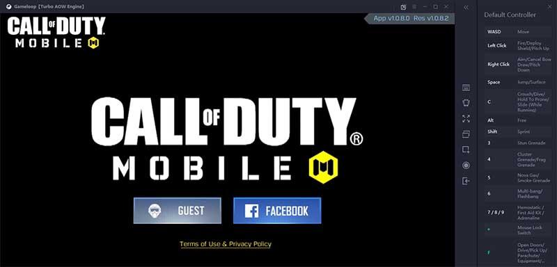 configurando Call of Duty Mobile en PC