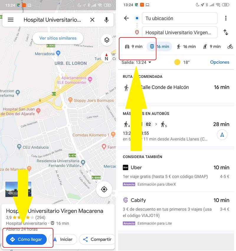 Cómo avisar de radares móviles a otros conductores en Google Maps 1