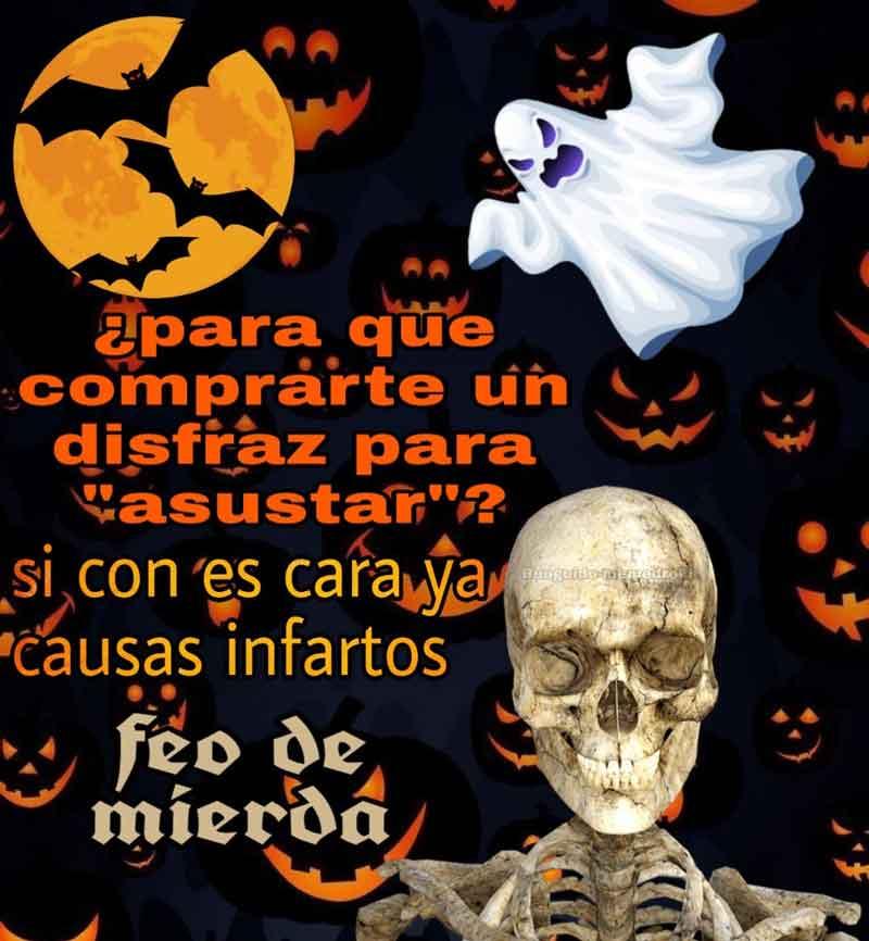 mejores memes de Halloween para compartir por WhatsApp y Twitter amigo feo