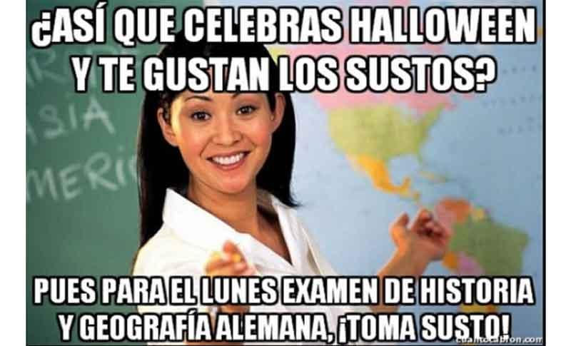 mejores memes de Halloween para compartir por WhatsApp y Twitter profesor