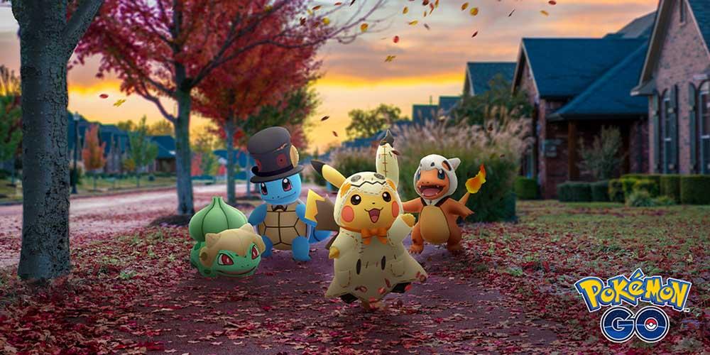 Cómo capturar a Pikachu, Squirtle y otros vestidos de Halloween en Pokémon GO