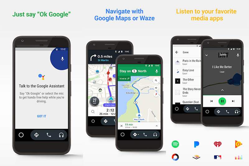 Android Auto en Android 10